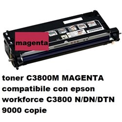 toner C3800M MAGENTA compatibile con epson workforce C3800 N/DN/DTN 9000 copie