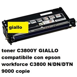toner C3800Y GIALLO compatibile con epson workforce C3800 N/DN/DTN 9000 copie