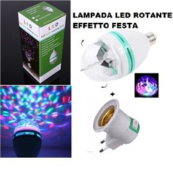 LAMPADA LED ROTANTE EFFETTO FESTA - LED MINI PARTY LIGHT