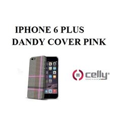 CELLY custodia IPHONE 6S PLUS Cover Pied de Poule PPK PINK