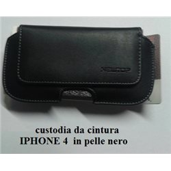 custodia da cintura iphone 4 in pelle nero