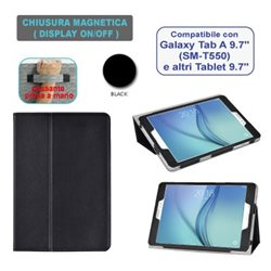 "Custodia in ecopelle compatibile con Samsung Galaxy Tab A 9.7"" SM-T550"