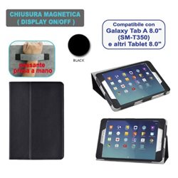 "Custodia in ecopelle compatibile con Samsung Galaxy Tab A 8"" SM-T550"