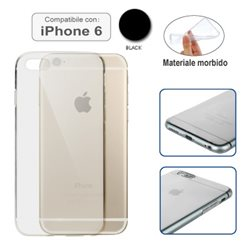 Custodia compatibile con iPhone 6 TRASPARENTE NERA