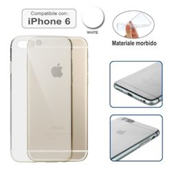 Custodia compatibile con iPhone 6 TRASPARENTE BIANCA