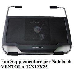 Ventola Cooler Pad Notebook Tecno Cooler Black Ventola 12cm model HH633