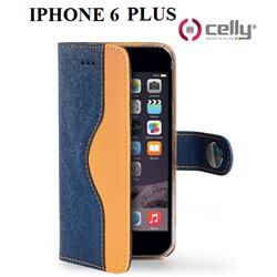 CELLY custodia Apple Iphone 6 PLUS wally onda in ecopelle con doppio colore