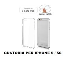 Custodia trasparente compatibile con IPHONE 5 5S