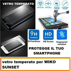 vetro temperato per WIKO SUNSET