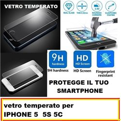 vetro temperato per IPHONE 5 5S 5C
