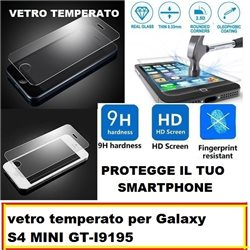 vetro temperato per Galaxy S4 MINI GT-I9190-9195 4.3""