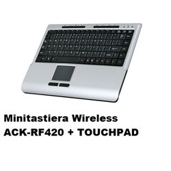Minitastiera Wireless ACK-RF420 + TOUCHPAD