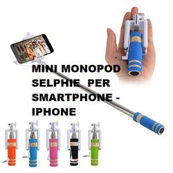 MINI MONOPOD SELPHIE PER SMARTPHONE -IPHONE