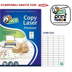 Codice LP4W-5221 52x21mm 100ff