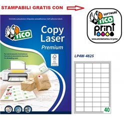 Codice LP4W-4825 48x25mm 100ff