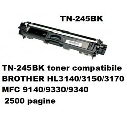 TN-245BK toner compatibile BROTHER HL3140/3150/3170 MFC 9140/9330/9340 2500 pagine