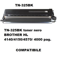TN-325BK toner nero COMPATIBILE per BROTHER HL 4140/4150/4570/ 4000 pag.