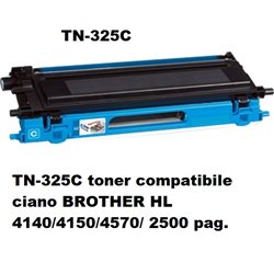 TN-325C toner compatibile ciano per BROTHER HL 4140/4150/4570/ 2500 pag.