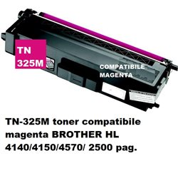 TN-325M toner compatibile magenta per BROTHER HL 4140/4150/4570/ 2500 pag.