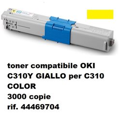 toner compatibile OKI C310 GIALLO per C310 COLOR 3000 copie rif. 44469704