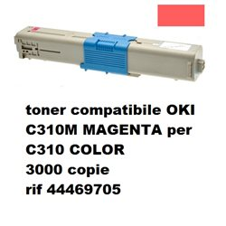 toner compatibile OKI C310 MAGENTA per C310 COLOR 3000 copie rif 44469705