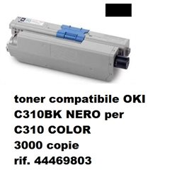 toner compatibile OKI C310 NERO per C310 COLOR 3000 copie rif. 44469803