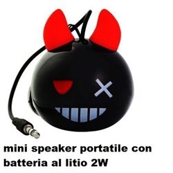 mini speaker portatile con batteria al litio 2W