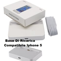Base Di Ricarica NON ORIGINALE Compatibile PER Iphone 5 5C/ 5S + CAVO