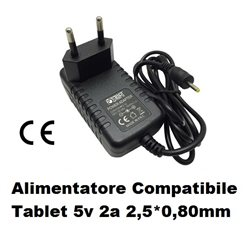 Alimentatore Compatibile Tablet 5v 2a 2,5*0,80mm