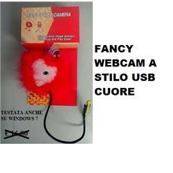 FANCY WEBCAM A STILO USB CUORE