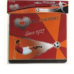 tappetino mouse mousepad giallo/rosso ROMA 18x21cm