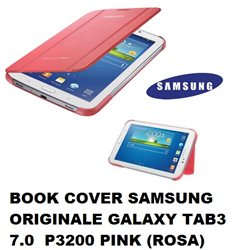 BOOK COVER SAMSUNG ORIGINALE GALAXY TAB3 7.0 P3200 PINK (ROSA)