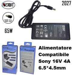 Alimentatore Compatibile Sony 16V 4A 6,5*4,5mm, St@rt