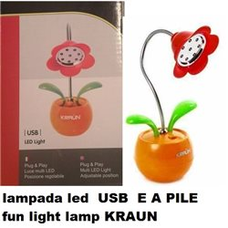 lampada led USB E A PILE fun light lamp KRAUN