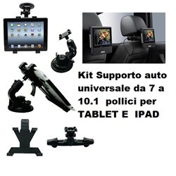 Kit Supporto auto universale da 7- 10.1 pollici per TABLET E IPAD
