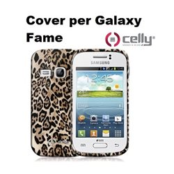 CELLY Cover per Galaxy Fame in morbido e avvolgente TPU anti-shock marrone con texture animalier