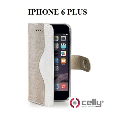 CELLY custodia Apple Iphone 6 PLUS a Portafoglio in ecopelle Oro