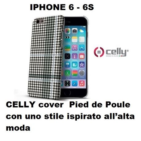 CELLY cover IPHONE 6 6S Pied de Poule con uno stile ispirato all'alta moda
