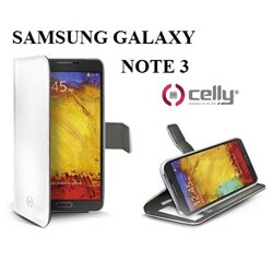CELLY custodia nera con portacarte per Samsung Galaxy NOTE 3 COLORE BIANCO