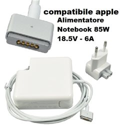 Alimentatore COMPATIBILE Notebook 85W 18.5V - 6A connettore MAGSAFE2 compatibile apple