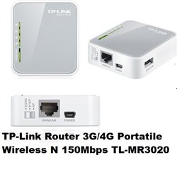 TP LINK Router 3G/4G Portatile Wireless N 150Mbps TL-MR3020