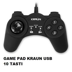 GAME PAD KRAUN USB 10 TASTI