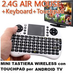 MNI TASTIERA WIRELESS con TOUCHPAD per ANDROID TV UKB-500-RF