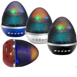 Mini Speaker Bluetooth Luminoso WS-1802 + lettore MicroSD+ USB + LED+RADIO FM