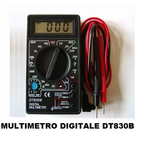 MULTIMETRO DIGITALE DT830B