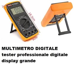 MULTIMETRO DIGITALE tester professionale digitale display grande