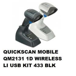QUICKSCAN MOBILE QM2131 1D WIRELESS LI USB KIT 433 BLK