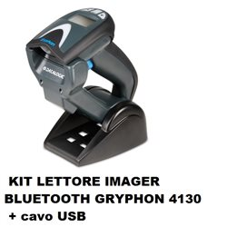 KIT LETTORE IMAGER BLUETOOTH GRYPHON BT 4130 + cavo USB