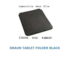 KRAUN E-BOOK FOLDER IN SIMILPELLE RIGIDA TABLET IPAD 21,2 cm X 25,5 cm