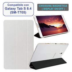 Custodia in ecopelle compatibile con Samsung Galaxy Tab S 8.4""